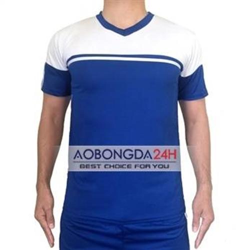 Áo đá bóng không logo Training xanh da trời (mẫu 10)