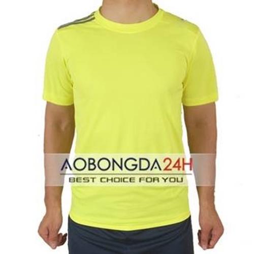 Áo bóng đá Trainning không logo màu vàng (mẫu 09)