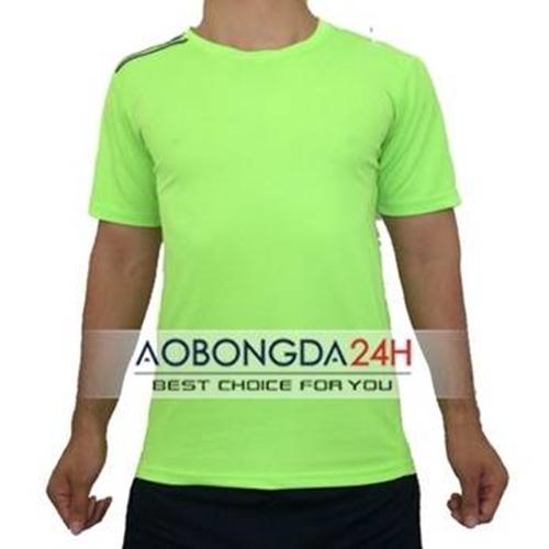 Áo đá banh Trainning không logo màu nõn chuối (mẫu 08)