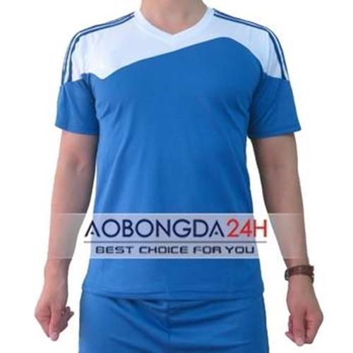Áo bóng đá Trainning không logo xanh da trời (mẫu 07)
