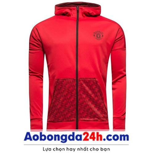 Áo khoác thể thao nam Mu 2018 đỏ (Mẫu 02)