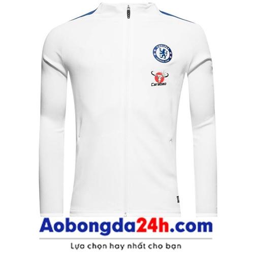 Áo khoác thể thao Chelsea 2018 trắng (Mẫu 01)