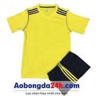 Áo thể thao không logo Traning màu vàng (mẫu 68)