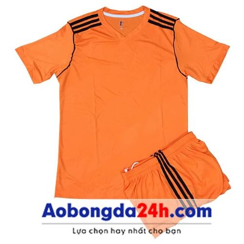 Áo đá bóng không logo Traning màu cam (mẫu 69)