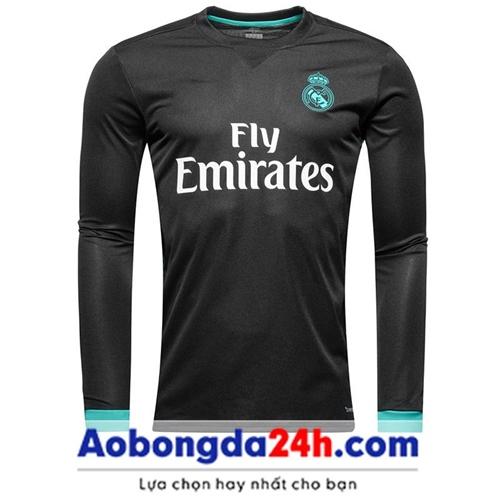 Áo bóng đá Real Madrid tay dài 2018 Sân khách