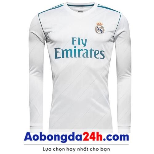 Áo bóng đá dài tay Real Madrid 2018 Sân nhà