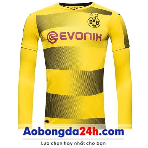 Áo bóng đá dài tay Dortmund 2018 vàng Sân nhà