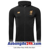 Áo khoác bóng đá Liverpool 2018 đen (Mẫu 04)