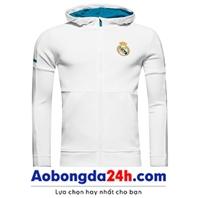 Áo khoác thể thao Real Madrid 2018 có mũ (Mẫu 04)
