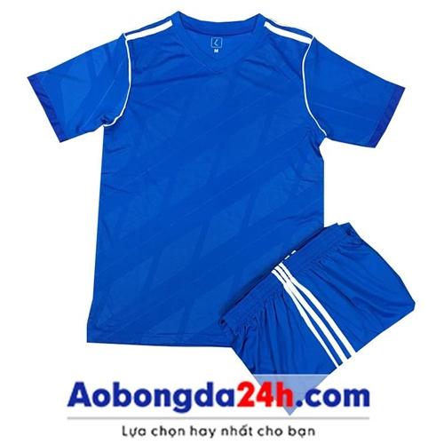Quần áo Traning không logo màu xanh da trời (mẫu 71)