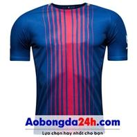 Áo không logo Barcelona 2018 xanh sân nhà