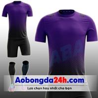 Áo bóng đá không Logo All Black Tím Đen