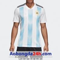 Áo Argentina 2018 - 2019 sân nhà sọc trắng xanh