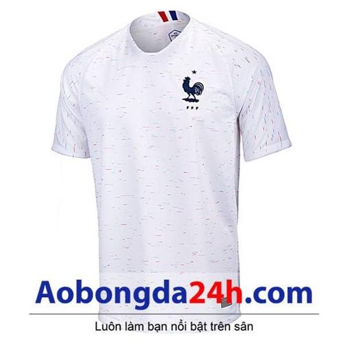 Áo đá bóng Pháp 2018 màu trắng