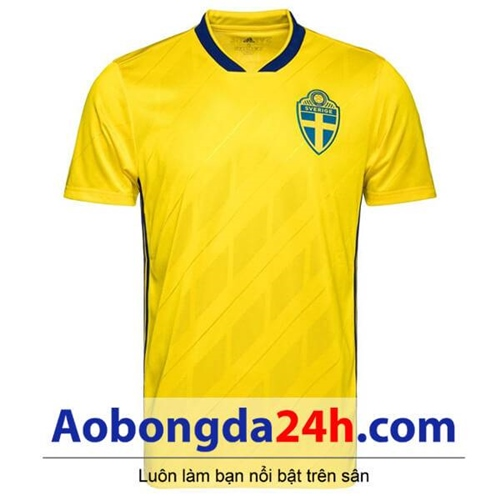 Áo Thụy Điển sân nhà World Cup 2018 - 2019 màu vàng
