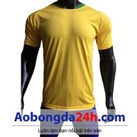Áo không logo Brazil vàng sân nhà World cup 2018