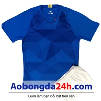 Áo Brazil không logo sân khách xanh world cup 2018