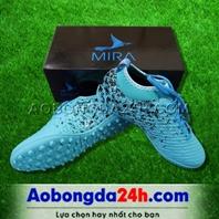 Giày Mira 02 (MR02) màu xanh ngọc, đinh TF, da PU chống nước
