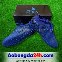 Giày Mira 02 (MR02) xanh dương chính hãng, đinh TF, da PU chống nước