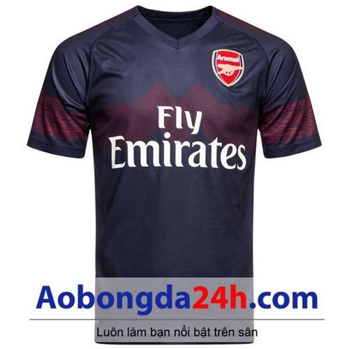 Áo bóng đá CLB Arsenal 2018-2019 sân khách màu tím than