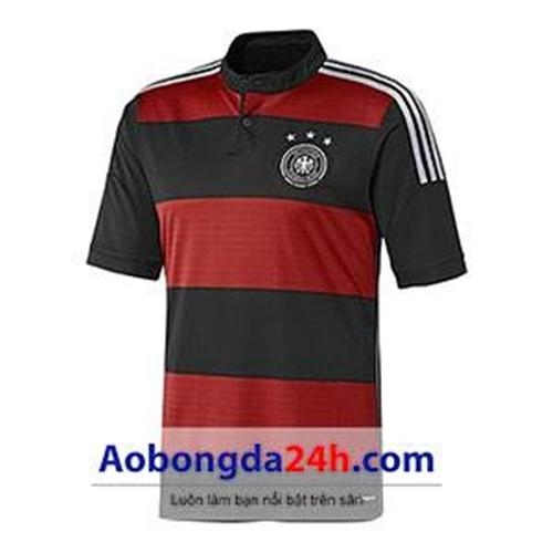 Áo đấu Đức đỏ đen sân khách World Cup 2014
