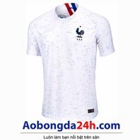 Áo đội tuyển Pháp 2018 - 2019 sân khách màu trắng