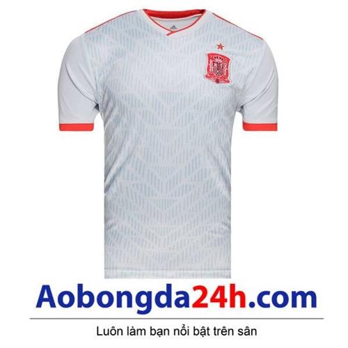 Áo đấu Tây Ban Nha 2018 - 2019 màu trắng