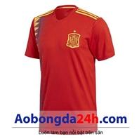 Áo đội tuyển Tây Ban Nha đỏ 2018 - 2019 mẫu mới