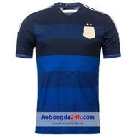 Áo đấu Argentina World Cup 2014 sân khách Xanh
