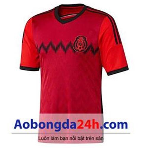 Áo đấu Mexico 2014 sân khách đỏ