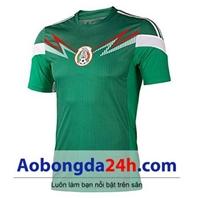 Áo đấu Mexico 2014 sân nhà màu xanh