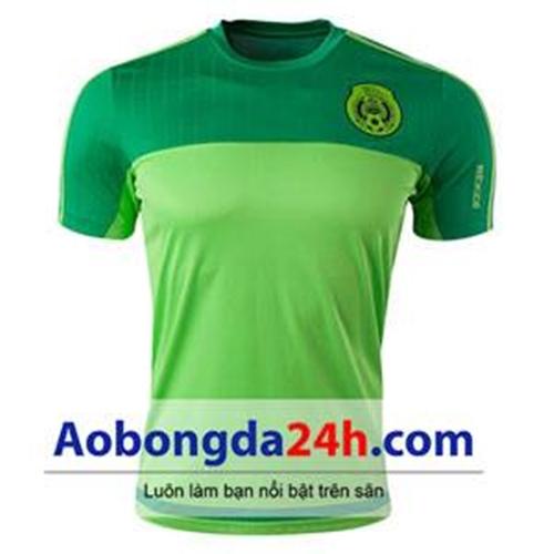 Áo bóng đá Mexico 2015 mẫu áo tập Xanh