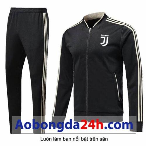 Bộ quần áo nỉ thể thao nam Juventus 2018 đen