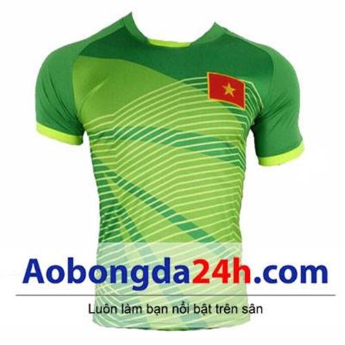 Áo thủ môn đội tuyển U23 Việt Nam 2018 xanh