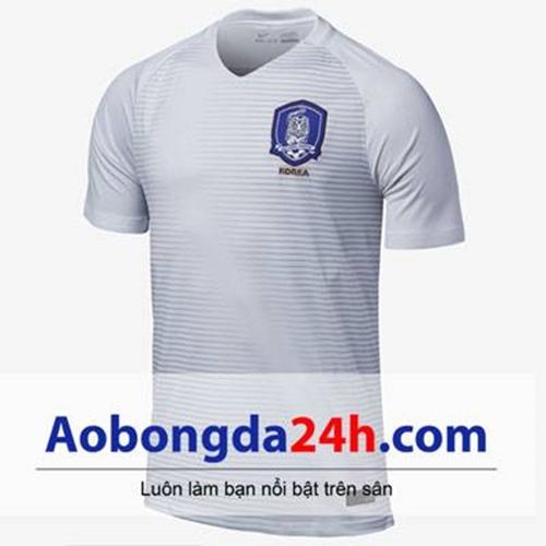 Áo đá bóng Hàn Quốc 2017-2018 sân khách màu trắng