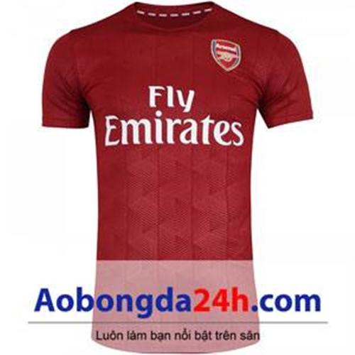 Áo đá bóng Arsenal 2017 - 2018 áo tập bã trầu