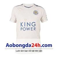 Áo bóng đá Leicester City 2017-2018 màu trắng (mẫu 3)