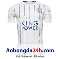 áo Leicester City 2016-2017 sọc trắng (mẫu 3)