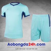 Áo đá bóng không logo Aither mẫu 11 - xanh ngọc