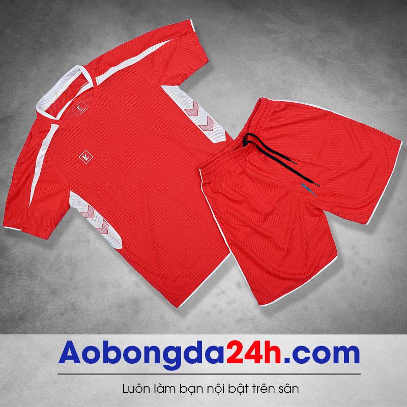 Áo dá bóng không logo mẫu 4 màu đỏ