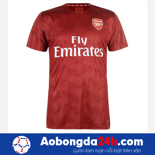 Áo đá banh Arsenal 2017-2018 áo tập bã trầu