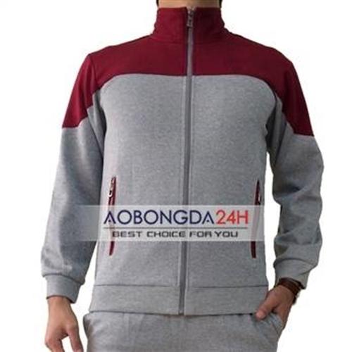 Bộ quần áo nỉ thể thao cao cấp màu xám (Mẫu 01)