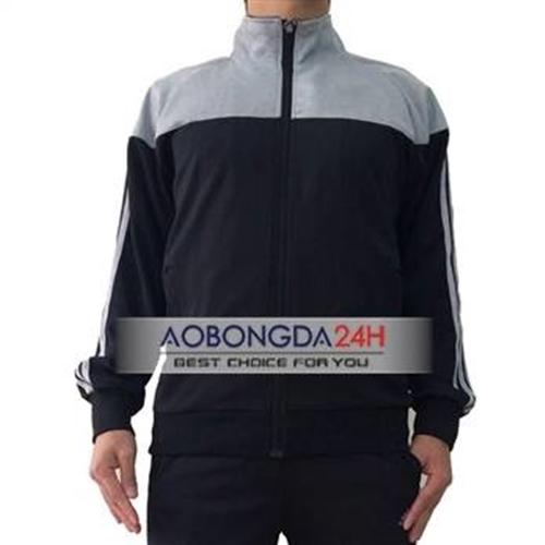 Bộ áo nỉ bóng đá cao cấp đen (Mẫu 03)