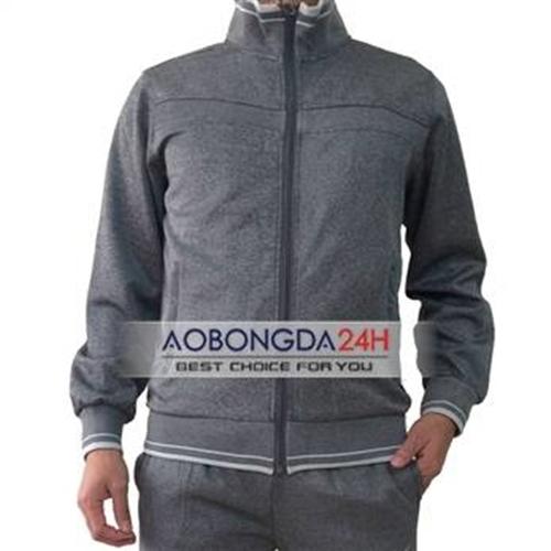 Bộ áo nỉ thể thao cao cấp xám (Mẫu 04)