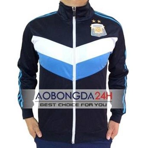 Áo khoác thể thao Argentina 2014-2015 xanh (Mẫu 1)
