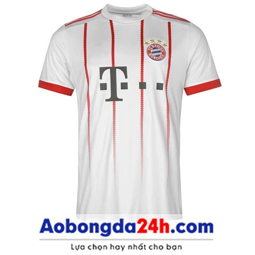 Áo đấu Bayern Munich 2017-2018 sân khách màu trắng