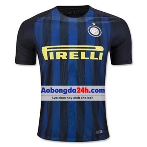 Áo bóng đá Inter Milan 2016-2017 sân nhà sọc xanh