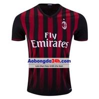 Áo CLB Ac Milan 2016-2017 sân nhà sọc đen đỏ thẫm