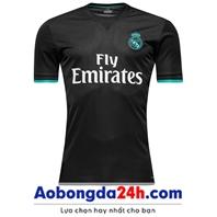 Áo bóng đá Real 2017 - 2018 sân khách màu đen