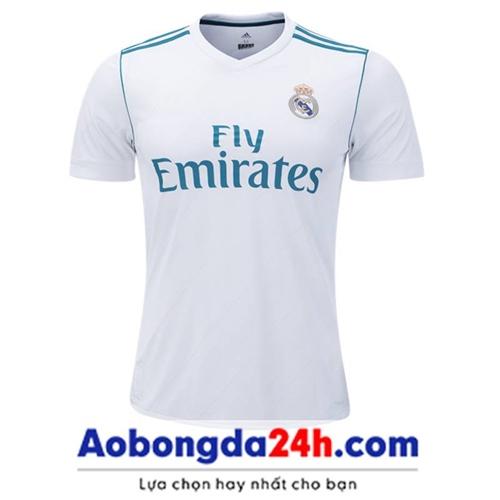 Áo CLB Real Madrid 2017-2018 sân nhà màu trắng